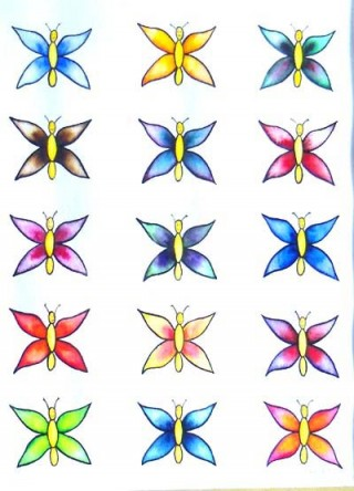 Butterfly Collection watercolor smiles love change hope love children's art