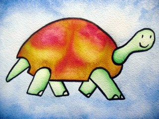 Turtle II (Framed set of 3 Original Watercolors) $150