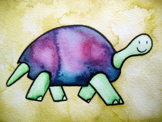 Turtle III (Framed set of 3 Original Watercolors) $150