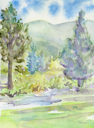 Grand Lake Art Lemmon Lodge Colorado art