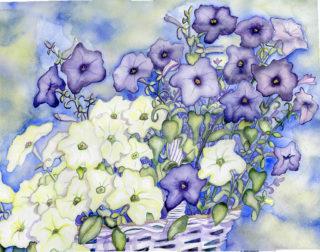 Petunias, Blueberry Lime Jam