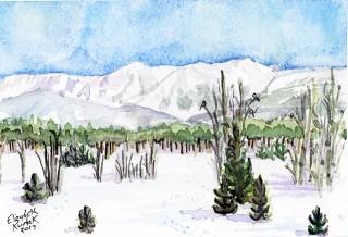 Devil's Thumb Tabernash Colorado winter snow Continental Divide Fraser Landscape art